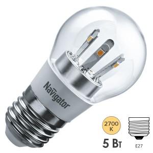 Лампа Navigator 71 295 NLL-G45-5-230-2.7K-E27-CL