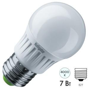 Лампа Navigator 61 381 NLL-G45-7-230-4K-E27-DIMM