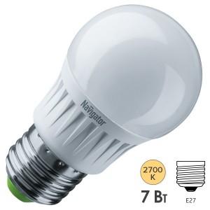 Лампа Navigator 94 377 NLL-G45-7-230-2.7K-E27-DIMM