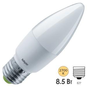 Лампа Navigator 61 327 NLL-C37-8.5-230-2.7K-E27-FR