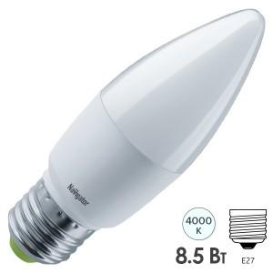 Лампа Navigator 61 328 NLL-C37-8.5-230-4K-E27-FR