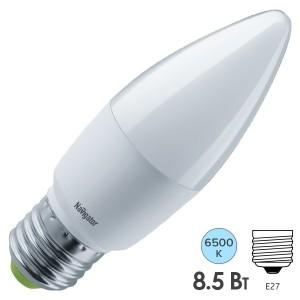 Лампа Navigator 61 329 NLL-C37-8.5-230-6.5K-E27-FR