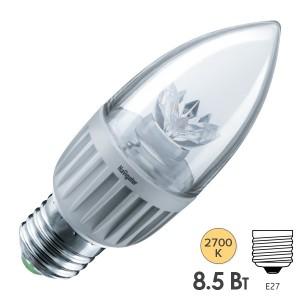 Лампа Navigator 71 849 NLL-C37-7-230-2.7K-E27-CL