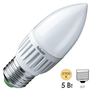 Лампа Navigator 94 481 NLL-P-C37-5-230-2.7K-E27-FR