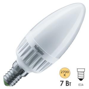 Лампа Navigator 61 651 NLL-C37-7-230-2.7K-E14-3STEPDIMM