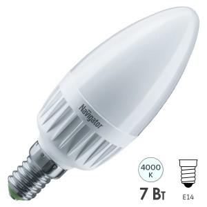 Лампа Navigator 61 652 NLL-C37-7-230-4K-E14-3STEPDIMM