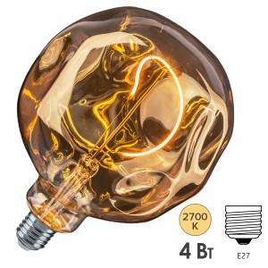 Лампа Navigator 14 499 NLL-F-G125ST-4-230-2.7K-E27-BE
