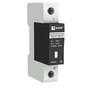 Ограничитель импульсных напряжений ОПВ-B/1P In 30кА 400В с индикатором EKF PROxima
