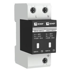 Ограничитель импульсных напряжений ОПВ-B/2P In 30кА 400В с индикатором EKF PROxima