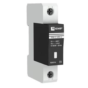 Ограничитель импульсных напряжений ОПВ-C/1P In 20кА 400В с индикатором EKF PROxima