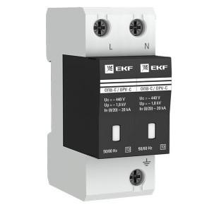 Ограничитель импульсных напряжений ОПВ-C/2P In 20кА 400В с индикатором EKF PROxima
