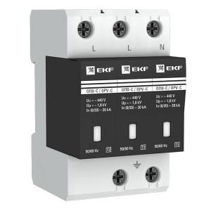 Ограничитель импульсных напряжений ОПВ-C/3P In 20кА 400В с индикатором EKF PROxima