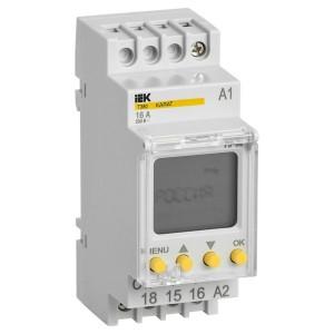 Таймер ТЭ80 цифровой недельный до 80 программ 1НО/НЗ16А 230В с резервом на DIN-рейку KARAT IEK