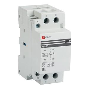 Контактор модульный КМ 16А NО+NC 230-400В 2 модуля EKF PROxima