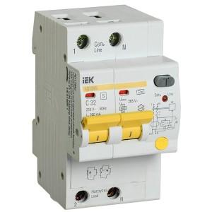 Дифференциальный автоматический выключатель селективный АД12MS 2P C32 300мА тип А 4500кА ИЭК (автомат)