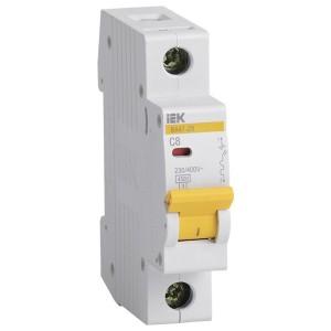 Автоматический выключатель ВА47-29 1Р  8А 4,5кА характеристика С ИЭК (автомат)