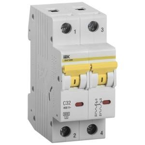 Автоматический выключатель ВА 47-60 2Р 32А 6 кА характеристика С ИЭК (автомат)
