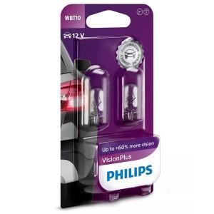 Лампа 12040VPB2 W6W 12V-6W (W2,1х9,5d) WBT10 (блистер 2шт.) PHILIPS