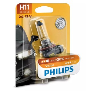 Лампа 12362PRB1 H11 12V 55W PGJ19-2 ( +30% света) (блистер 1шт.) Vision PHILIPS