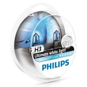 Лампа 12336DVS2 H3 12V 55W PK22s (белый холод.свет-голуб.оттен.) (уп. 2шт.) Diamond Vision PHILIPS