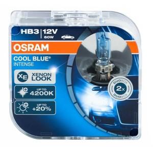 Лампа 9005CBI-HCB HB3 12V 60W P20d (4200К) COOL BLUE INTENSE OSRAM (упаковка 2шт)