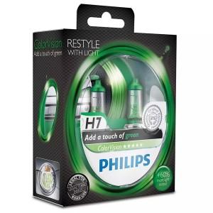 Лампа 12342CVPGS2 H4 12V 60/55W P43t (белый свет-отен.зелен. в фар.нелинз. (уп. 2шт) Color Vision