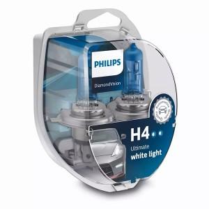 Лампа 12342DVS2 H4 12V 60/55W P43t (белый холод.свет-голуб.оттен.) (уп. 2шт) Diamond Vision PHILIPS