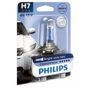 Лампа 12972CVB1 H7 12V 55W PX26d (белый яркий свет) (блистер 1шт.) Crystal Vision PHILIPS