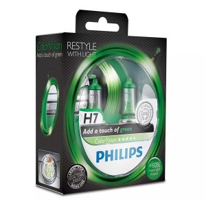Лампа 12972CVPGS2 H7 12V 55W PX26d (белый свет-отен.зелен. в фар.нелинз.) (уп. 2шт.) Color Vision