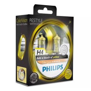 Лампа 12972CVPYS2 H7 12V 55W PX26d (белый свет-отен.желт. в фар.нелинз.) (уп. 2шт.) Color Vision