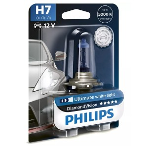 Лампа 12972DVB1 H7 12V 55W PX26d (белый холод.свет-голуб.оттен.) (блистер 1шт.) Diamond Vision