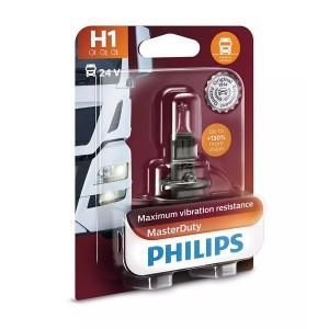 Лампа 13258MDB1 H1 24V 70W P14.5s (вибростойкая) (блистер 1шт.) MasterDuty PHILIPS