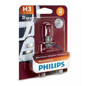 Лампа 13336MDB1 H3 24V 70W PK22s (вибростойкая) (блистер 1шт.) MasterDuty PHILIPS