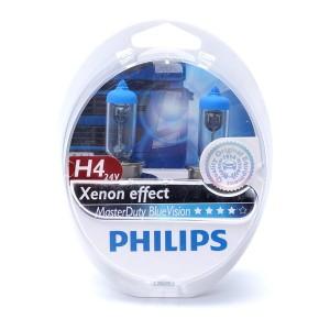 Лампа 13342MDBVS2 H4 24V 75/70W P43t (вибростойкая+белый яркий свет-голуб.оттен.) (уп. 2шт)
