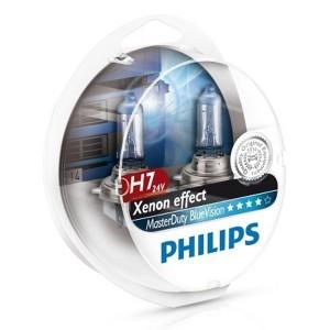 Лампа 13972MDBVS2 H7 24V 70W PX26d (вибростойкая+белый яркий свет-голуб.оттен.) (уп. 2шт.)