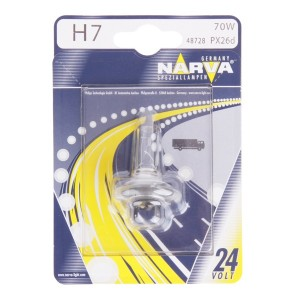 Лампа 48728B1 H7 24V 70W PX26d (блистер 1шт.) NARVA