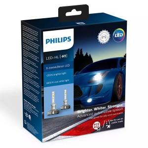 Лампа светодиодная 11258XUX2 H1 12V-LED P14,5s 6000K 25W X-treme Ultinon Air Cool (уп.2шт.) PHILIPS