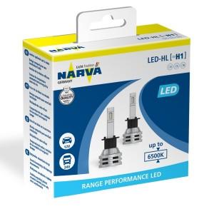 Лампа светодиодная 18057 H1 12/24V-LED P14,5s 6500K 16W, CANbus (уп.2 шт.) Range Performan NARVA