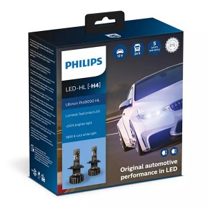 Лампа светодиодная 11342U90CWX2 H4 12/24V-LED P43t 5800K 18/18W (к.уп.2 шт.) Ultinon Pro9000 HL