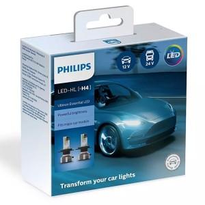 Лампа светодиодная 11342UE2X2 H4 12/24V-LED P43t 6500K 22/22W Ultinon Essential, встр. CANbus уп.2шт