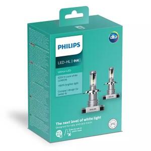 Лампа светодиодная 11342ULWX2 H4 12/24V-LED P43t 6200K 15/15W Ultinon LED (к.уп.2 шт.) PHILIPS
