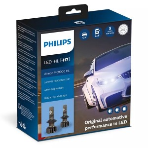 Лампа светодиодная 11972U90CWX2 H7 12/24V-LED PX26d 5800K 18W (уп.2 шт.) Ultinon Pro9000 HL PHILIPS