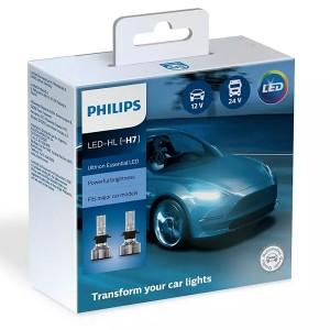 Лампа светодиодная 11972UE2X2 H7 12/24V-LED PX26d 6500K 25W Ultinon Essential, встр. CANbus (уп.2шт)