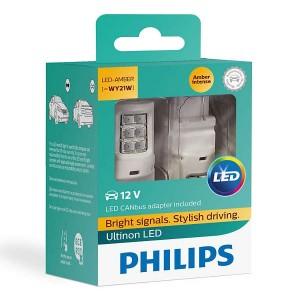 Лампа светодиодная 11065ULAX2 WY21W 12V-LED W3x16d Ultinon + CANbus 12V 21W CEA (уп. 2шт.) PHILIPS