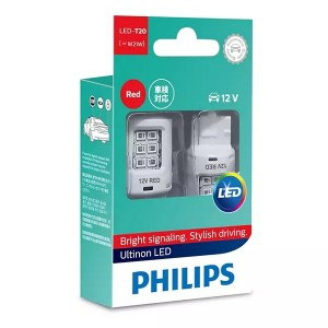 Лампа светодиодная 11065ULRX2 W21W 12V-LED 2,5W (W3x16d) RED (к.уп.2шт.) PHILIPS