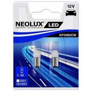 Лампа светодиодная NT0460CW-02B T4W 6000К 0.5W 12V BA9S LED technology (уп. 2шт.) NEOLUX
