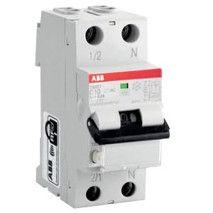 Дифавтомат ABB DS201 C10 AC30 2-полюсный характеристика C 10A 30mA тип АС (2CSR255040R1104)