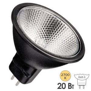 Лампа галогенная BLV FARBIG Black 20W 36° 12V GU5,3 отражатель black/черный