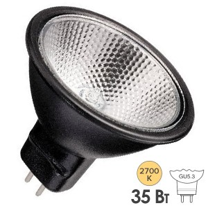 Лампа галогенная BLV FARBIG Black 35W 36° 12V GU5,3 отражатель black/черный