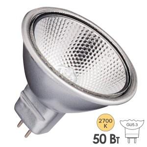Лампа галогенная BLV FARBIG Silver 50W 36° 12V GU5,3 отражатель silver/серебристый